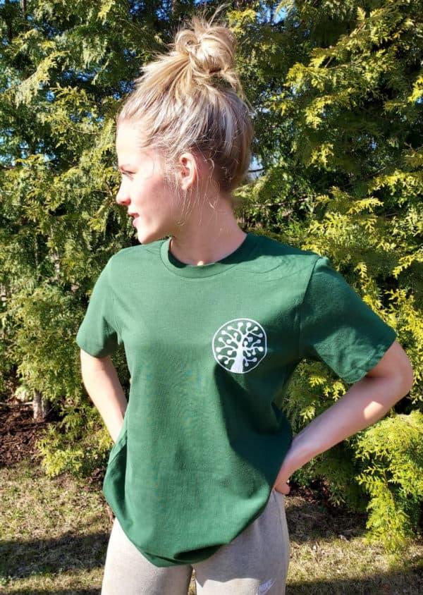 Vihreä haapalogo t-paita