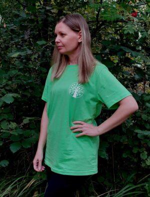 limenvihreä haapalogo t-paita