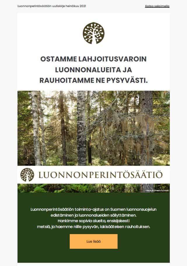 Luonnonperintösäätiön uutiskirje 7-2021